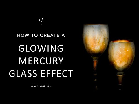 Easy Glowing Mercury Glass Paint Effect
