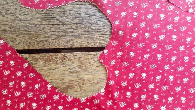 Cut the heart shapes out with pinking shears to prevent fraying