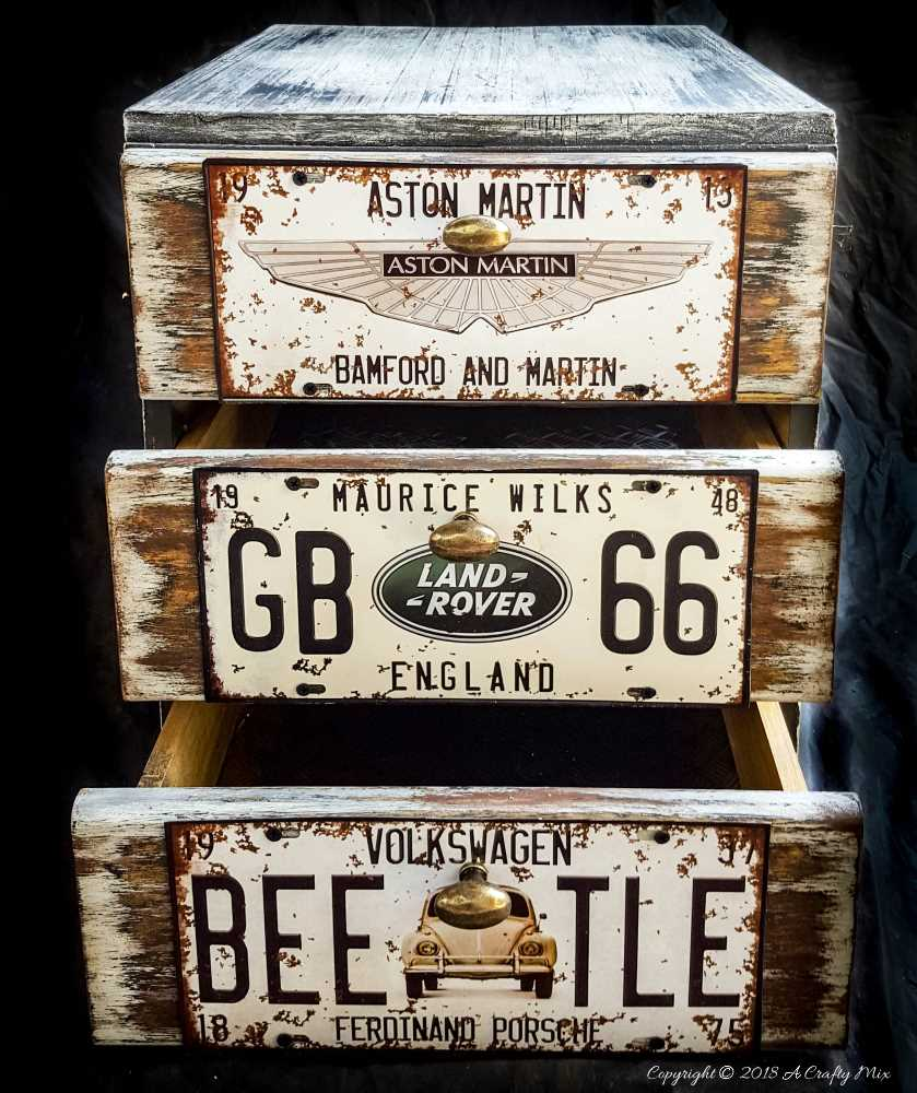 Revamped office storage, perfect for the garage using old license plates #storage