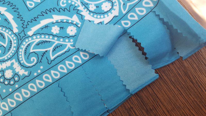 Cut the edge of the bandana heart into strips