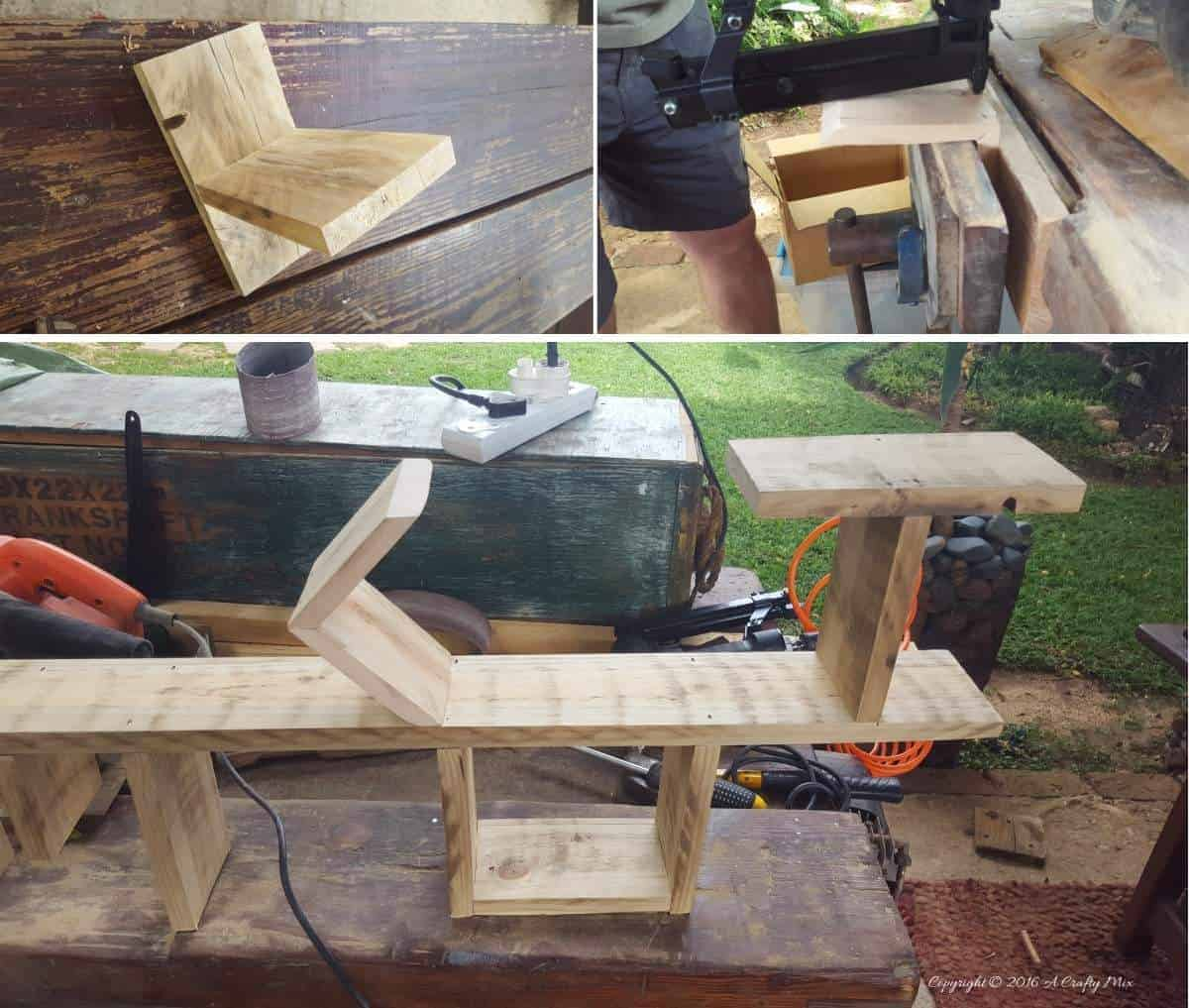 Making the H and the M for the HOME shelf