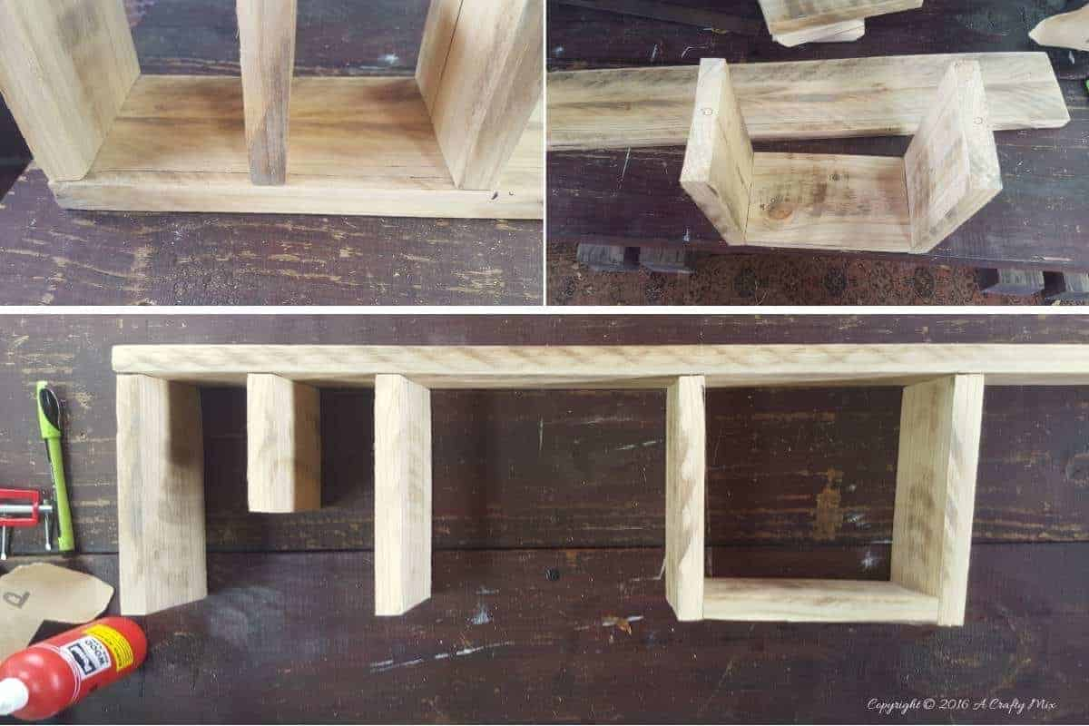 Making the O and the E for the HOME shelf