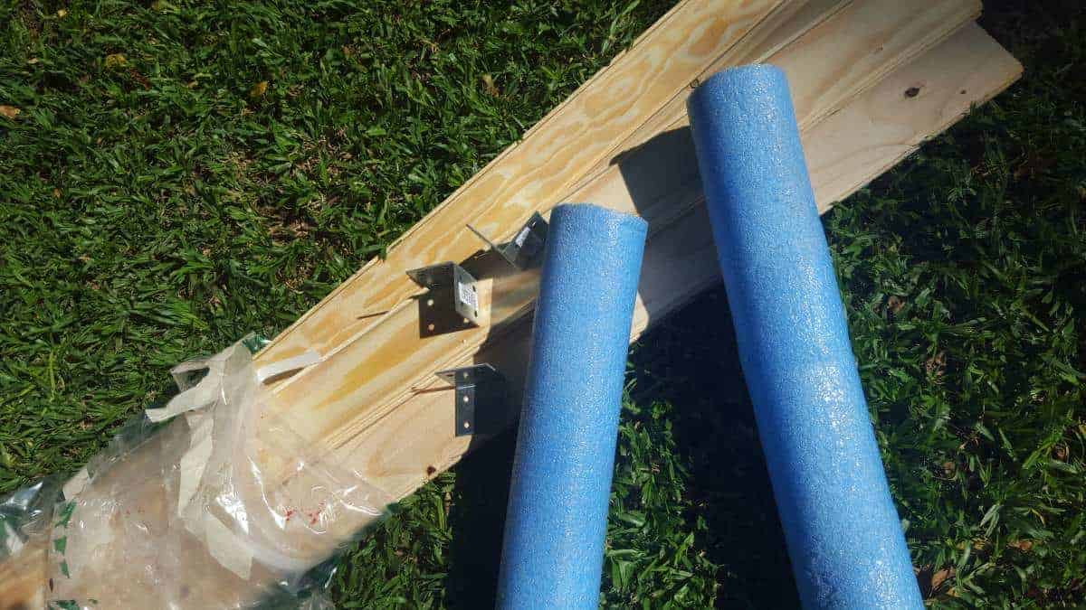 What you need to make a pool noodle bed
