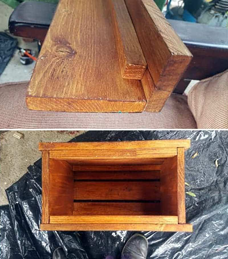 Make a simple box shape for the cupboard