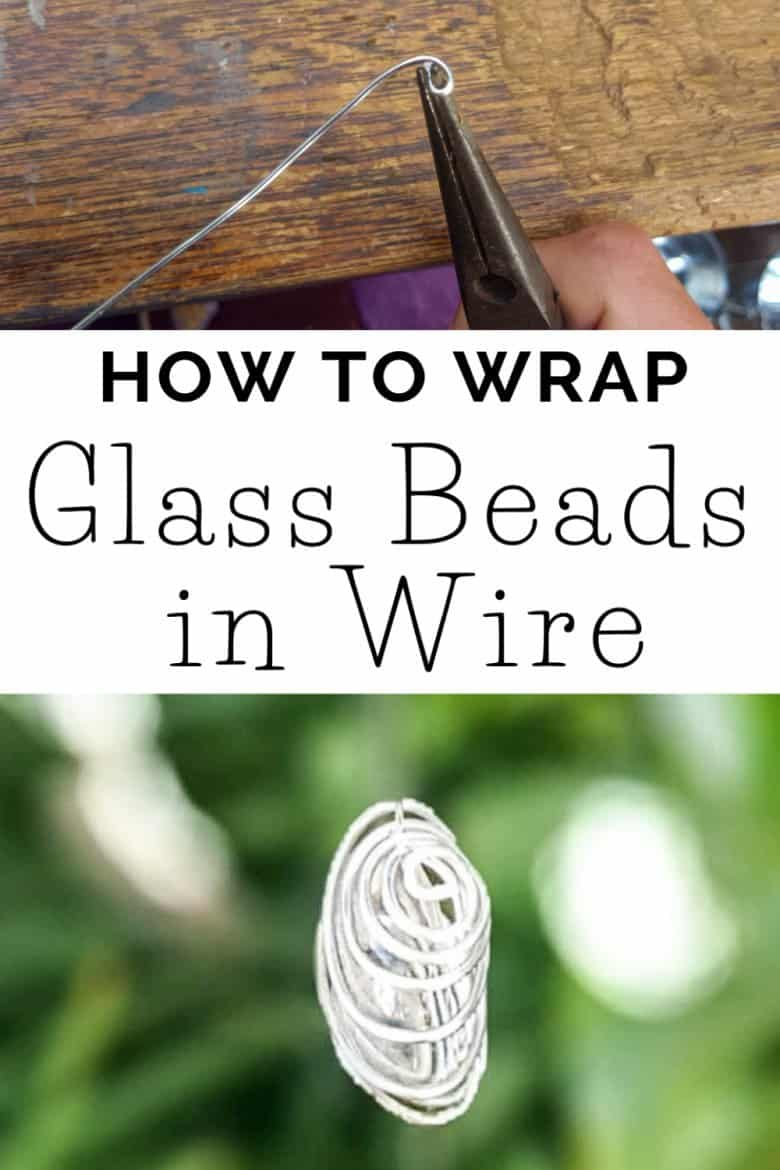 We'll show you how easy it is to make beautiful wire wrapped glass beads and add them to a repurposed wind chime