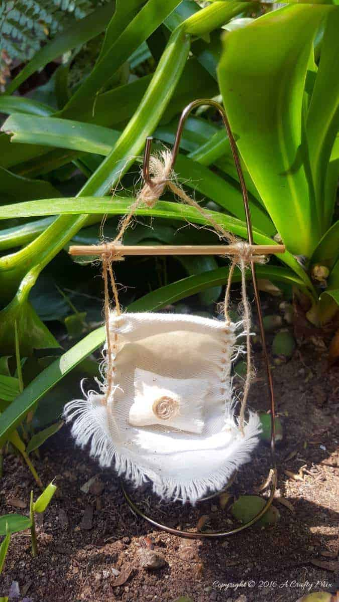 Make a fairy hammock and spoil those fae folk - Easy DIY with full tutorial on the blog