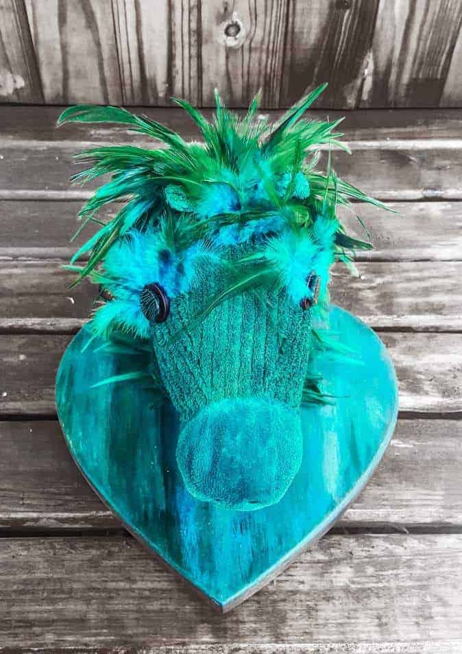 A little hobby horse gets a Unicorn SPiT makeover and becomes a wall hanging