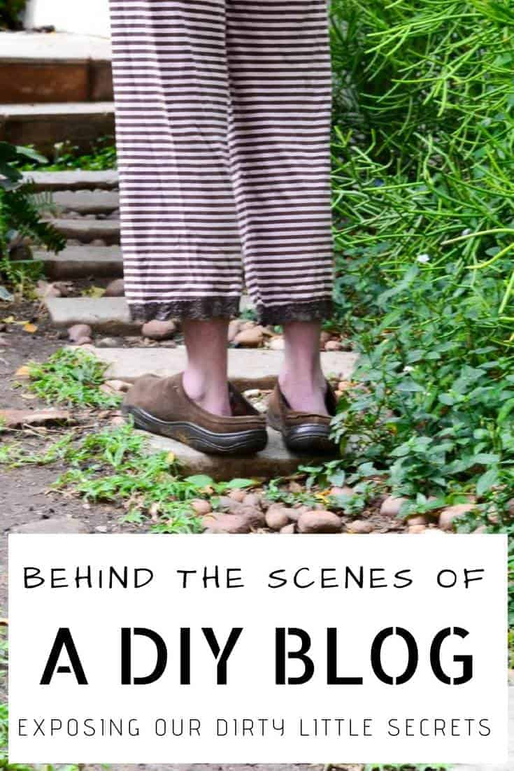 6 international bloggers share their dirty little secrets on what what really happens behind the scenes #DIYBlogging #DIY #BehindTheScenes