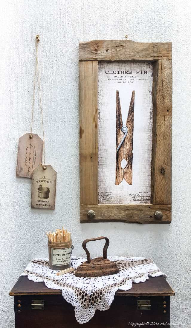 DIY Oversize Vintage Tags and Clothes Pin Wall Art. Includes 3 Free printables | Free oversized wall art | Easy DIY vintage style wall decor | Ready to print gallery wall | #FreePrintable #FreeWallArt #DIY #GalleryWall #Vintage