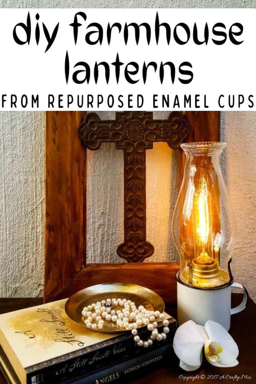 Make Your Own Beautiful Enamel Cup Lantern Easy Diy A Crafty Mix