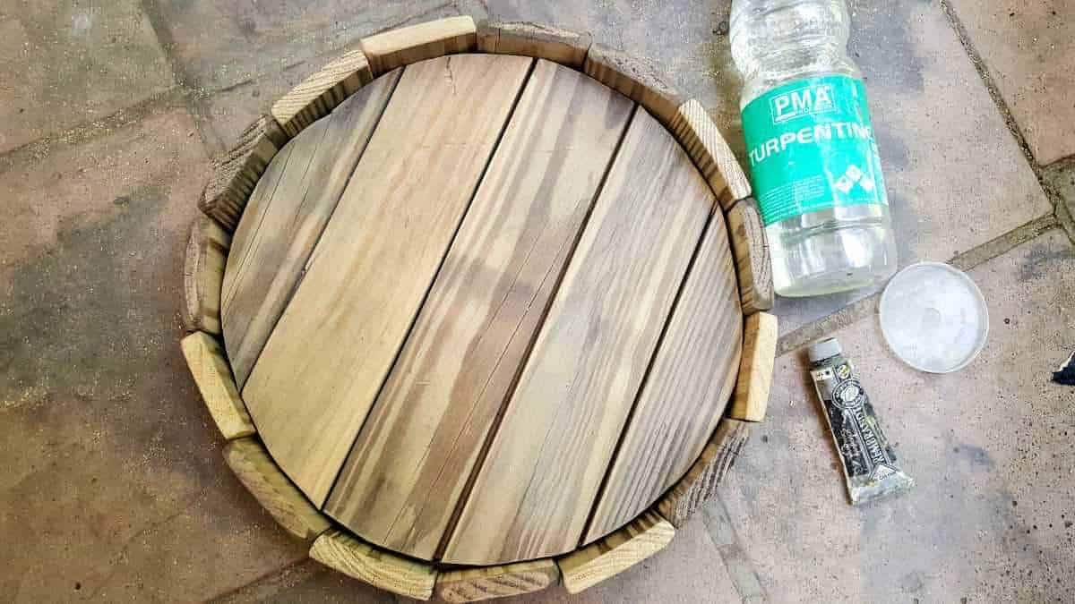 How to make a wine barrel top tray from scratch