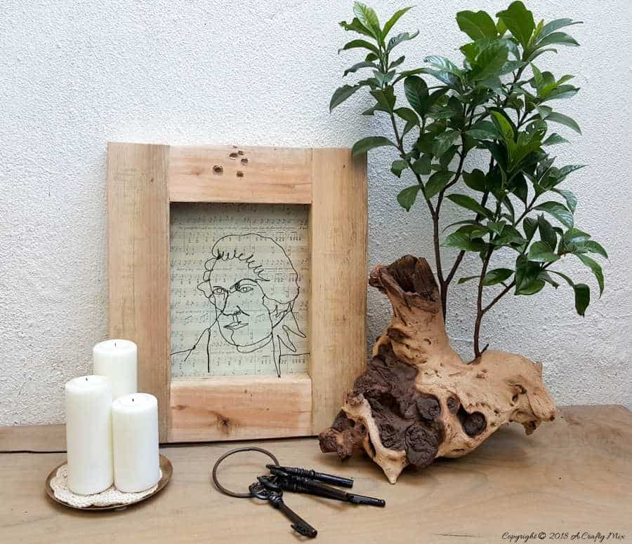 7 Tips for creating wire art. The tutorial includes a wire gauge cheat sheet and a Mozart template to work from #wireart #DIYWireArt #ACraftyMix #DIYTutorial #CraftTutorial #UniqueWallDecor #UniqueHomeDecor