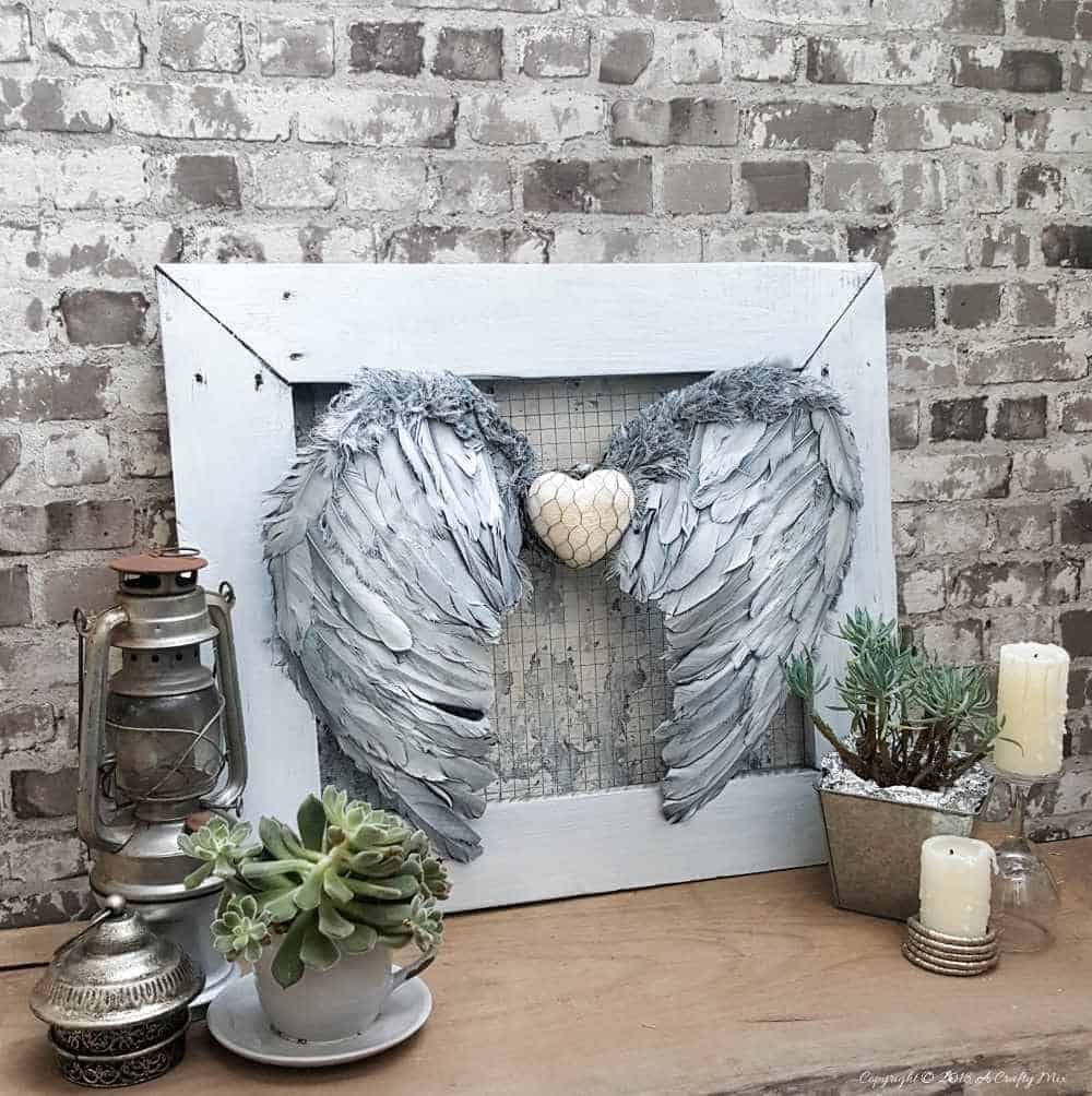 Make Your Own Heavenly Angel Wings Wall Decor A Crafty Mix