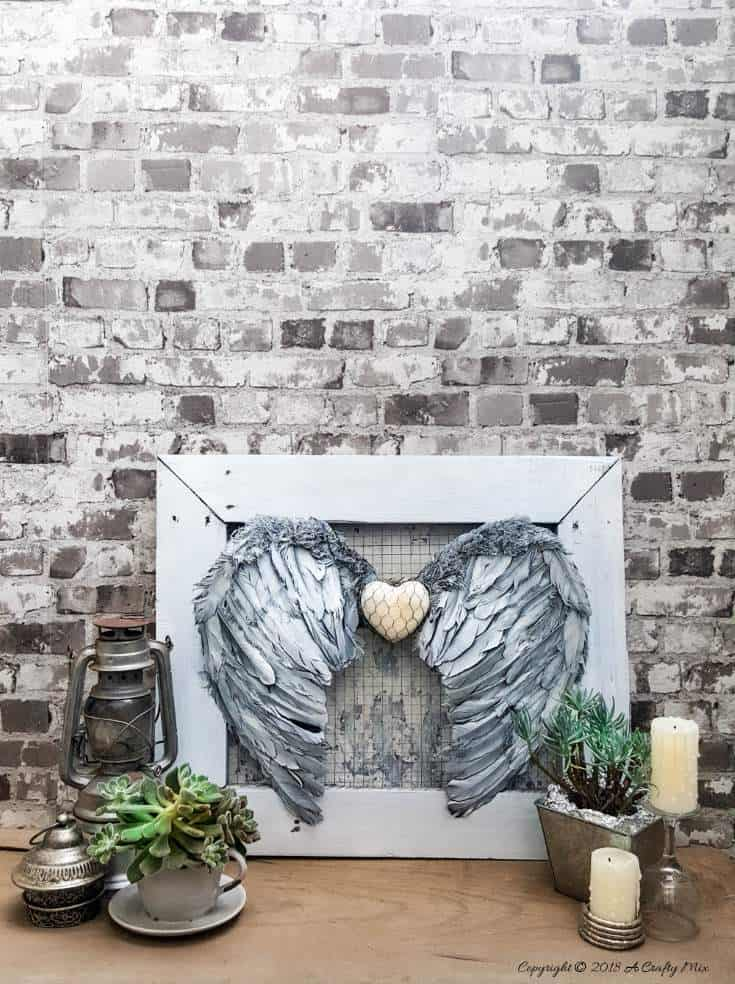 These beautiful angel wings will look heavenly hanging anywhere in your home and they're super easy to make too. #DIYHomeDecor