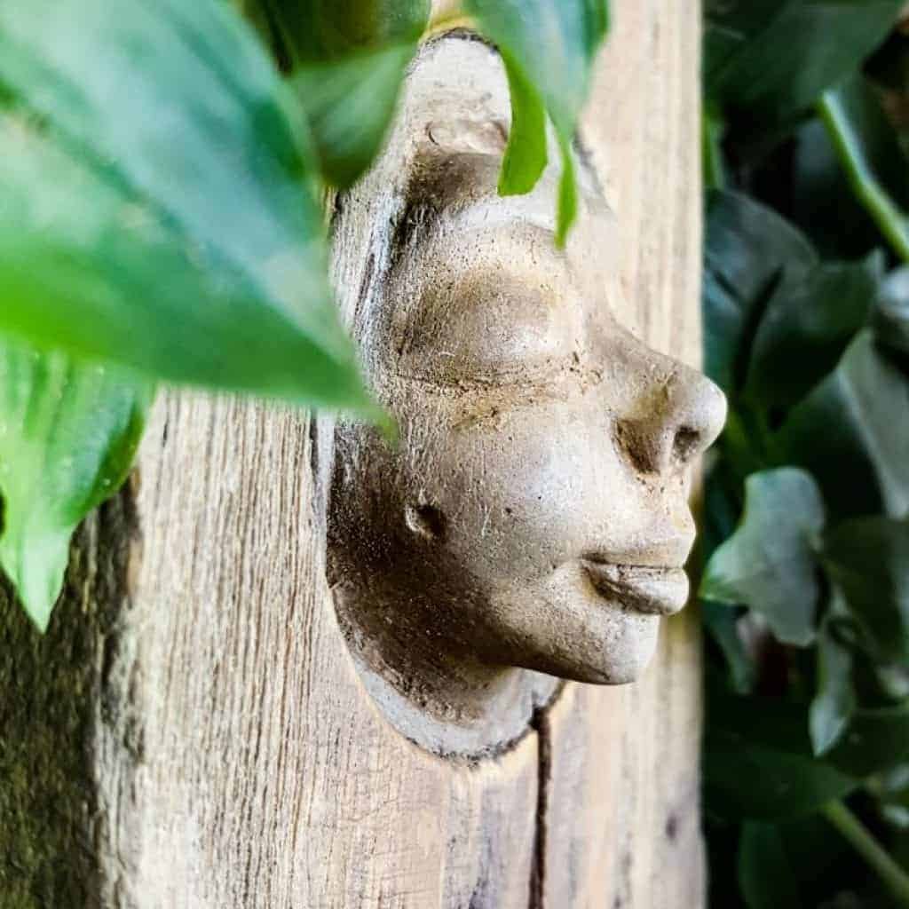 Make your own enchanting wood nymph garden ornament #howtomake #woodnymph #gardenart