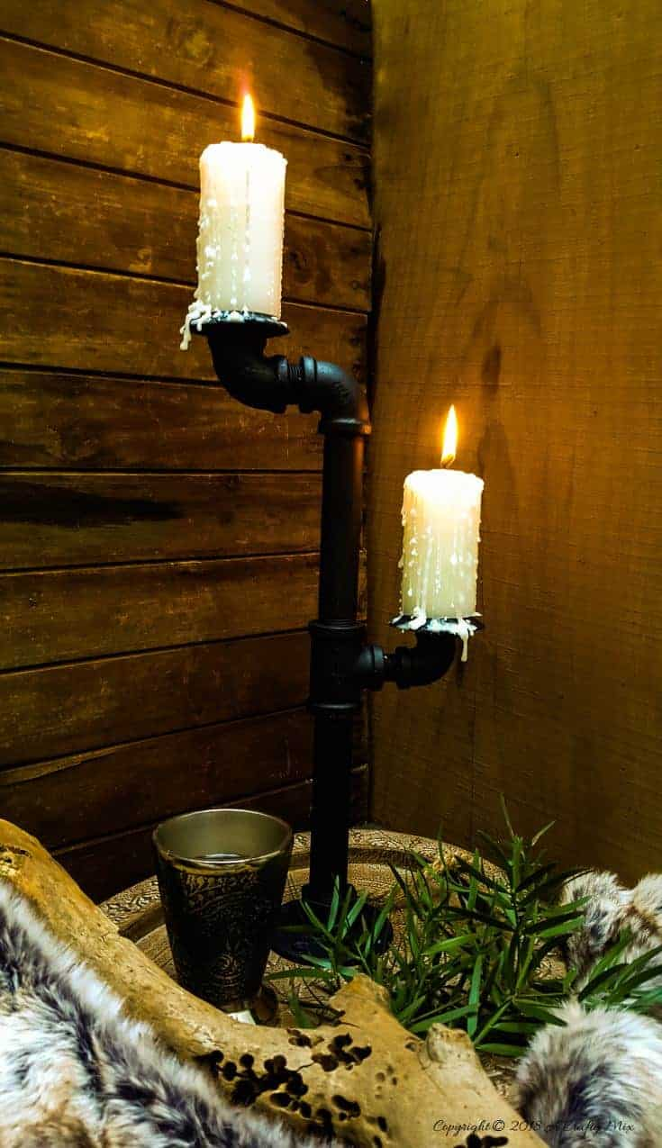 Bring a little bit of the Seven Kingdoms into your home decor with this DIY Game of Thrones candelabra. #DIYHomeDecor #GameofThrones