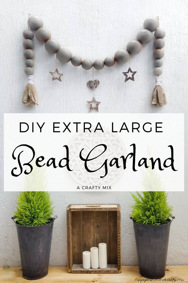 How To Make An Extra Large Bead Garland A Crafty Mix