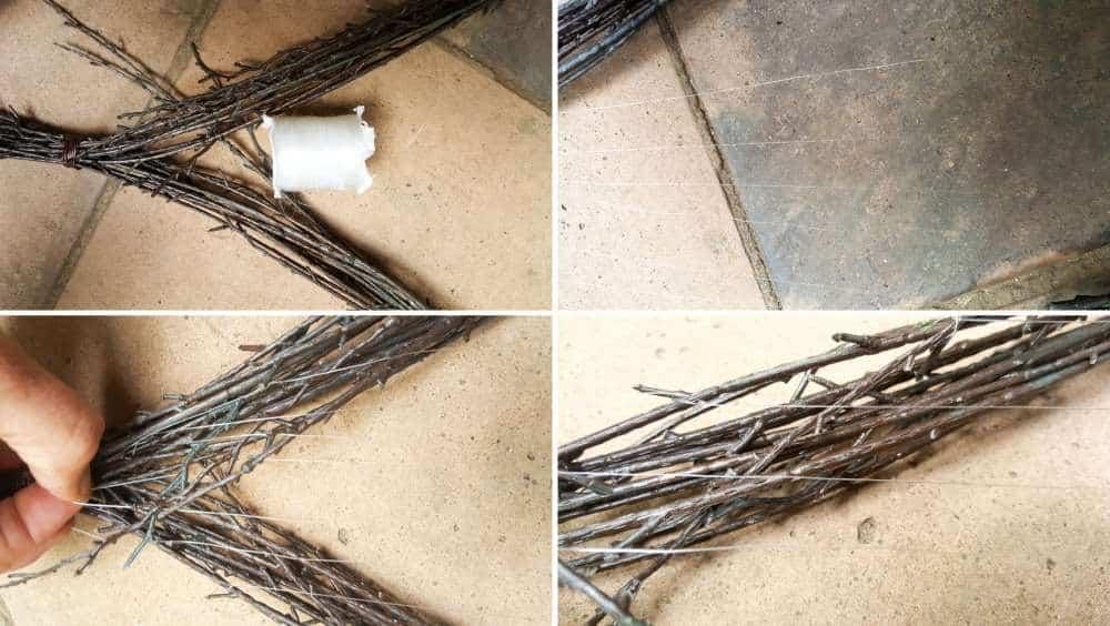 How to make a heart twig loom. Beautiful boho decor inspired by nature and love #BohoDecor #Valentinesday #WallArt #WeavingTutorial