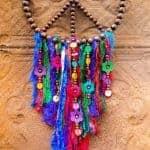 How to make a gorgeous bead and silk bohemian dreamcatcher #bohemiandecor #bohodecor #dreamcatcher #DIYTutorial #ACraftyMix