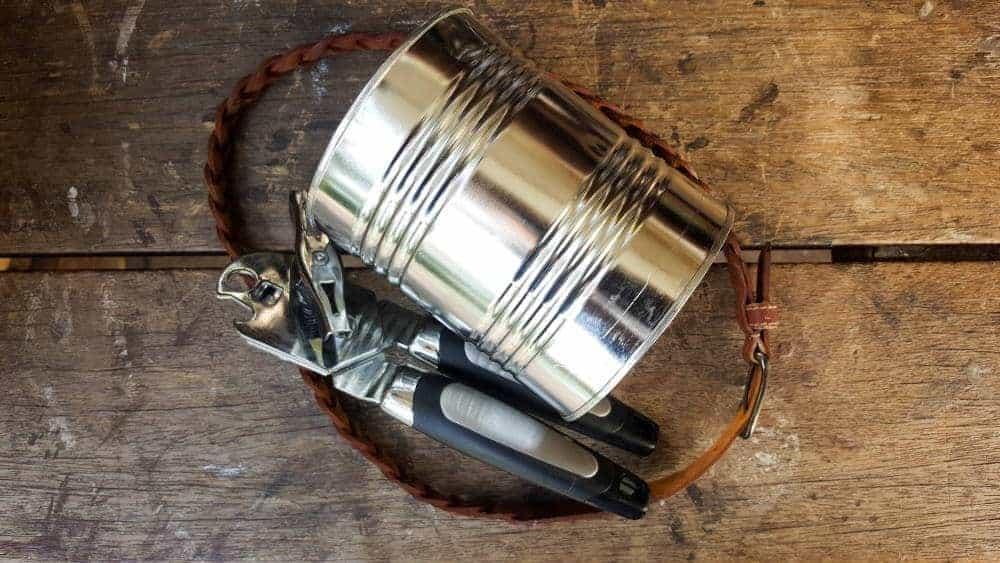 What you need to make a tin can handbag planter. Fun and easy recycling craft idea #tincan #recycle #repurpose #tincanrecycle #tincanplanter #acraftymix #creativetincanprojects #uniquetincanDIY