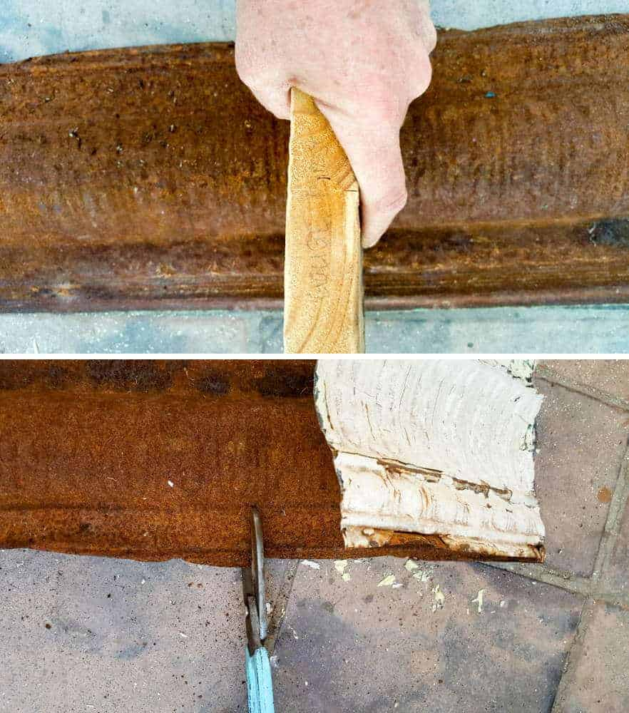 How to bend the tin ceiling tile #rusticbirdhouse #DIYbirdhouse #paintedbirdhouse #acraftymix #birdhouseideas #uniquebirdhouse