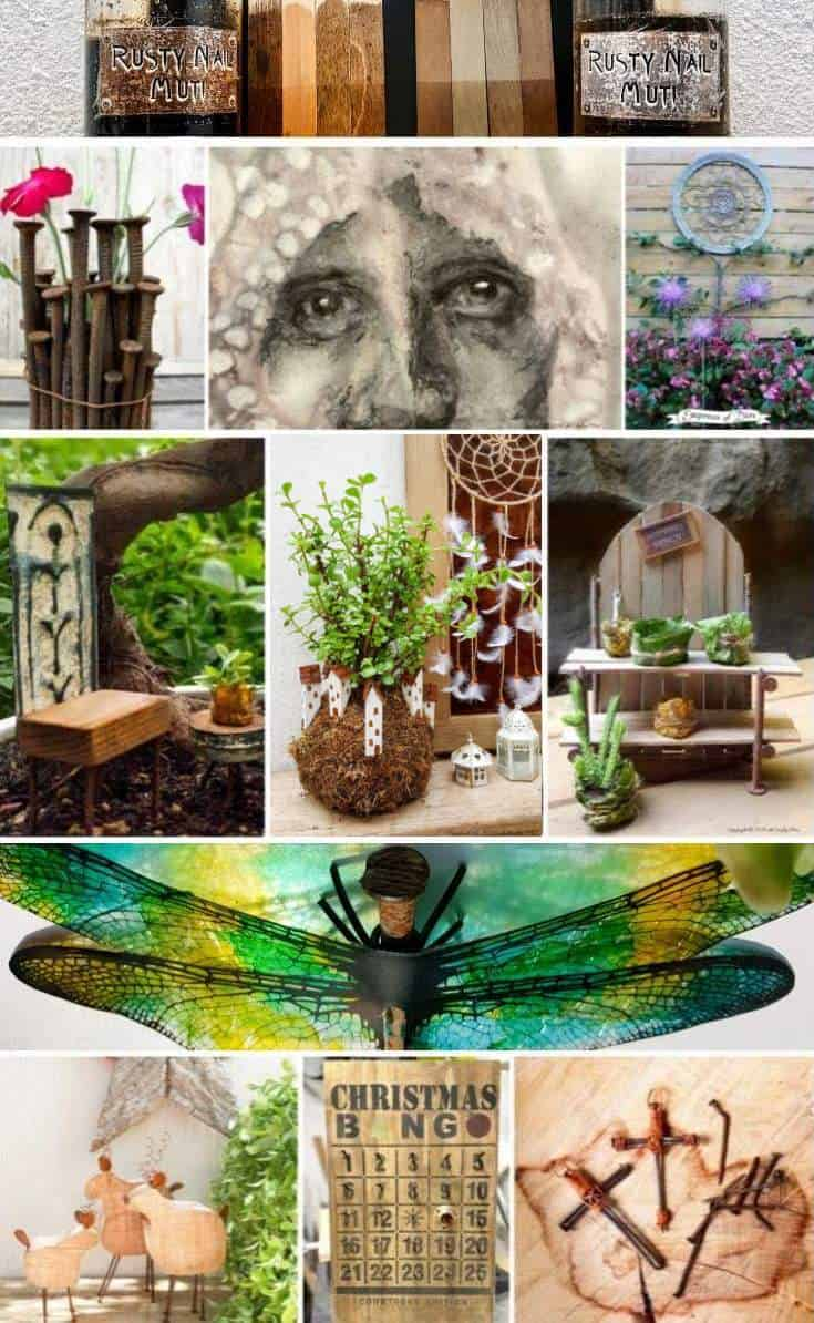 We searched high and low to find the most amazing rusty nail repurpose ideas and tutorials for you. So don't throw them away until you've seen all the crazy creative things you can do with them. #rustynail #repurpose #recycle #DIYtutorial #acraftymix #repurposetutorials #rustynailideas #rustynailcrafts #repurposednails