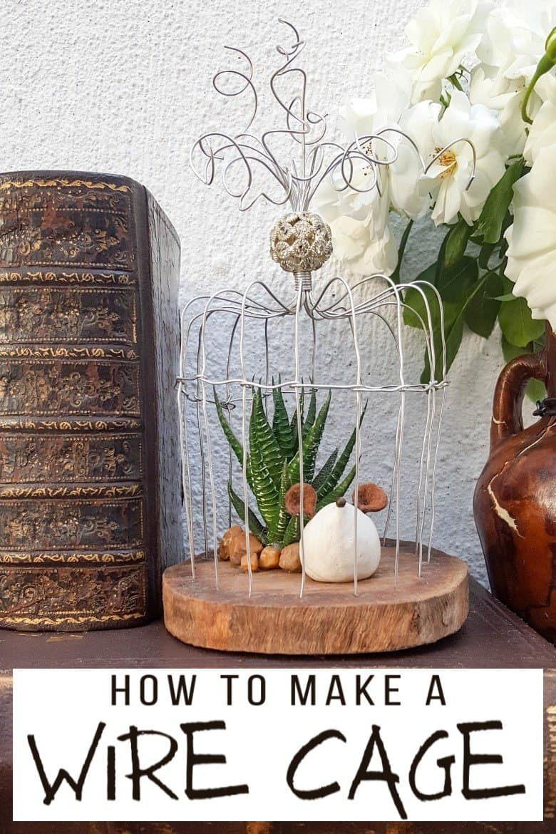 This easy to follow tutorial will show you how to make your own art deco wire bird cage. Made in a morning, it's a fun way to add a little handcrafted glamour to you décor. #BirdCage #DIY #ACraftyMix