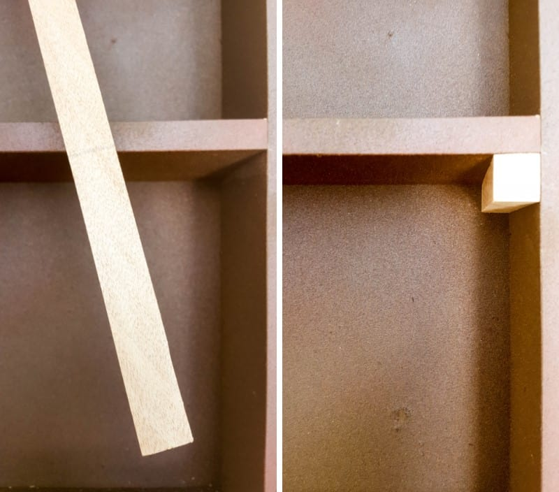 Use a 1 x 1 to make a shelf support
