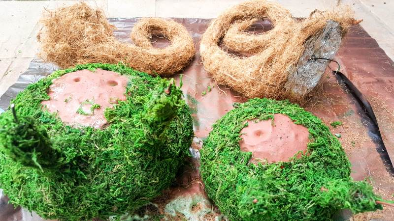 Cover the blob with moss