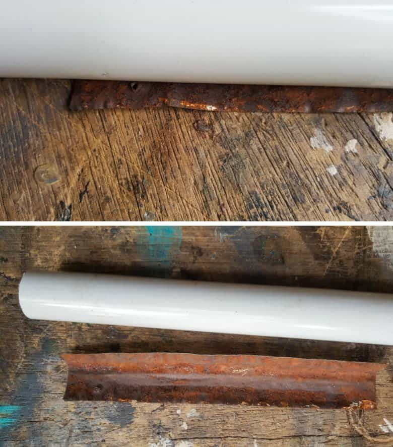 Use a PVC pipe to shape the slide