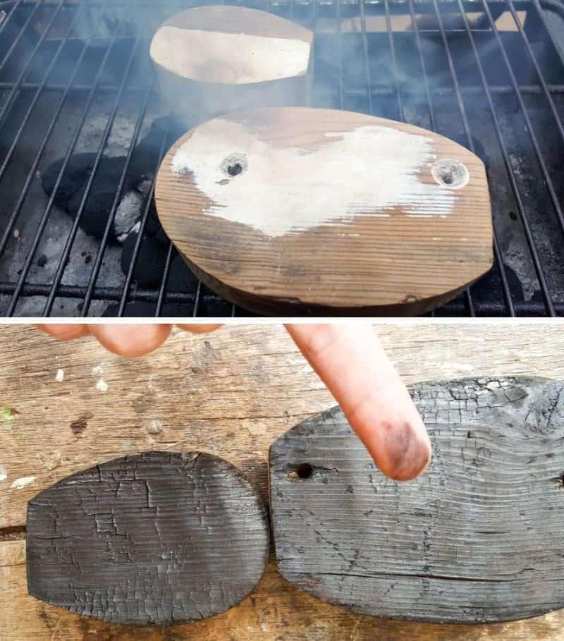 Burn the junk birds on open coals