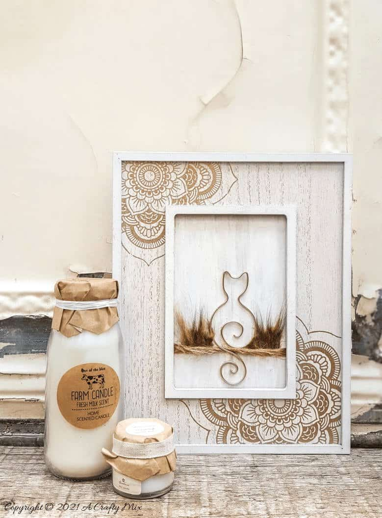 If you're looking for a special way to remember a special cat that's crossed over the rainbow bridge, this tutorial will show you how to make a budget-friendly wire kitty art memorial. The tutorial includes a free template to work from #WireArt #ACraftyMix #MemoryArt #CatCrafts