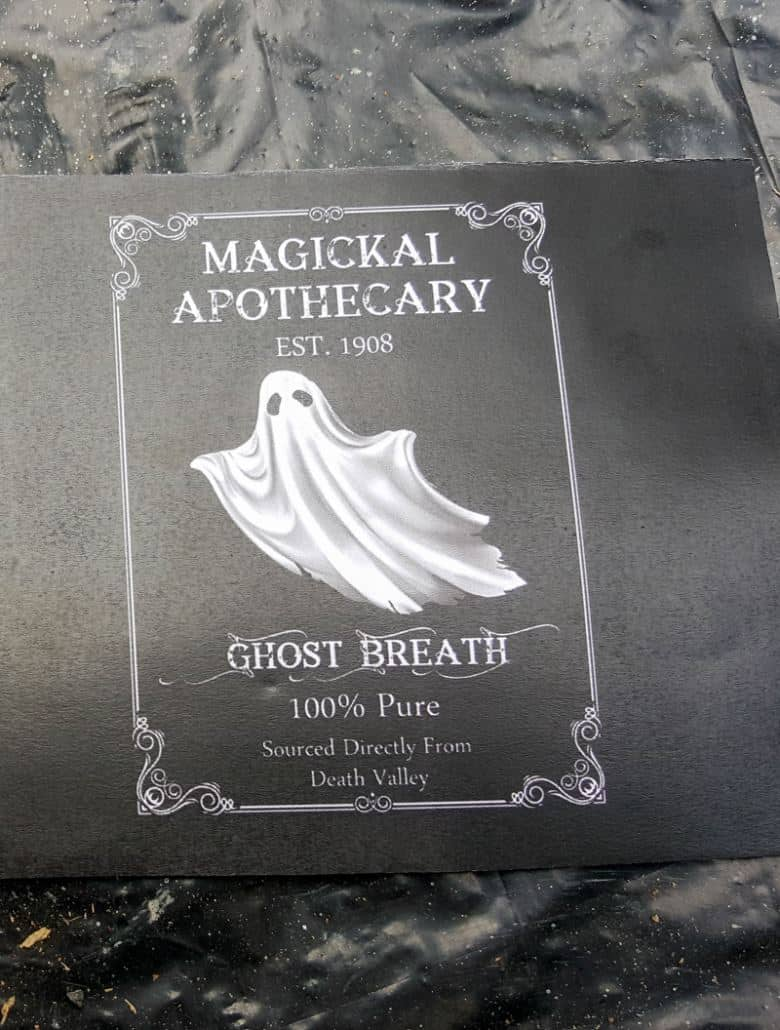 """Print out the free """"ghost breath"""" label"""