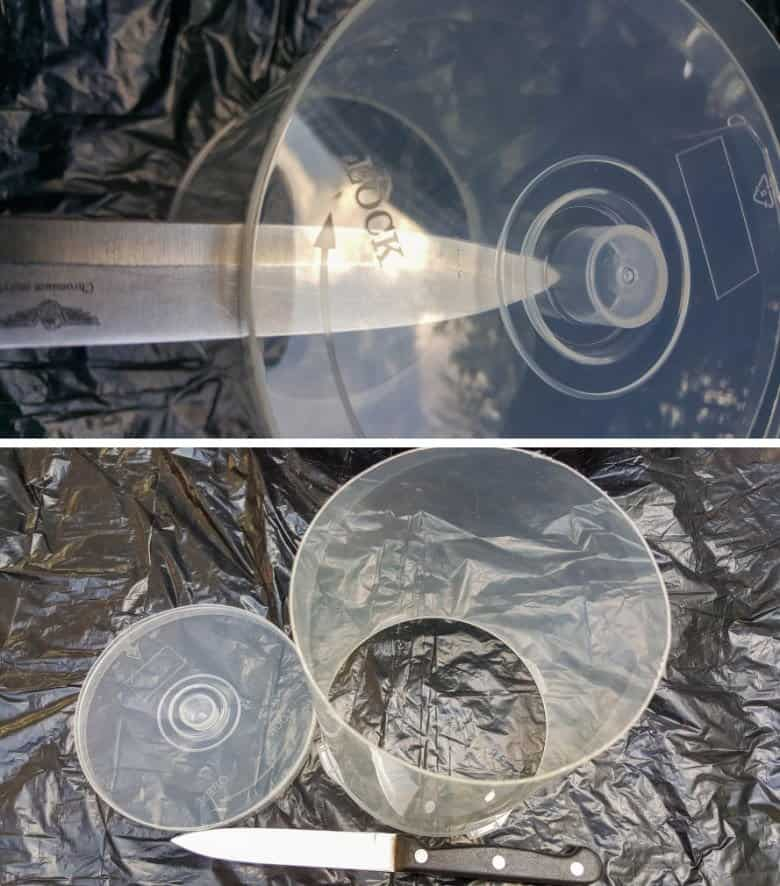 Cut the top of the CD case off with a sharp knife