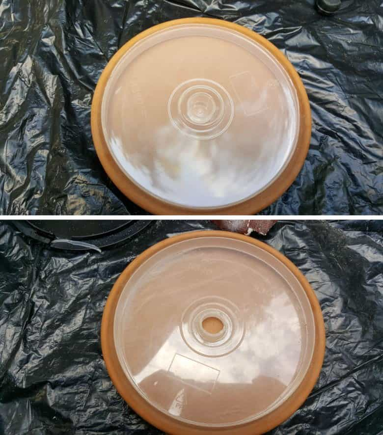 Use a drill to make a hole in the top of the CD case