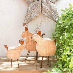 DIY a Rustic Wooden Reindeer Family