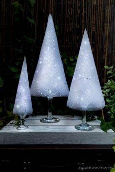 Easy Budget-Friendly Wine Glass Christmas Trees