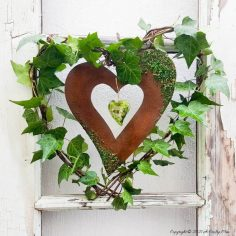 Celebrate Spring and Make a Heart Wreath