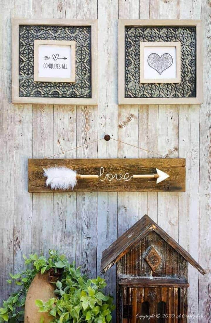 Love Arrow Sign Home Decor Gift Idea A Crafty Mix