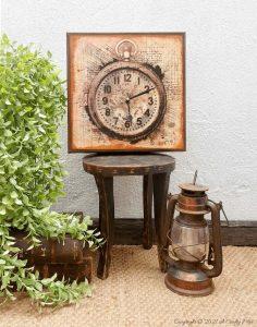 DIY Da Vinci Canvas Clock And Free Printable