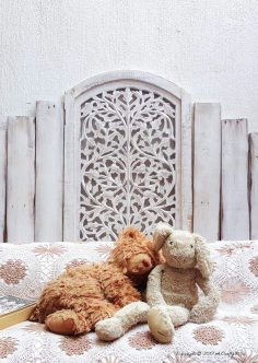 You'll Love This Charming Update On A Pallet Headboard