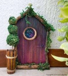 How To Make a Stained Glass Fairy Door