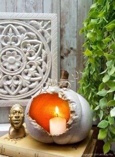 How To Make Hollow Concrete Pumpkins