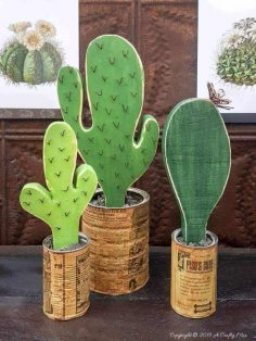 Easy DIY Wooden Cacti