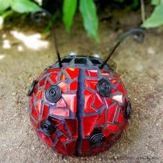 Use a Sponge Ball to Make a Ladybug Mosaic