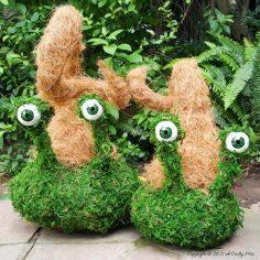 Easy Mossy Creatures – A Fun Porch Décor Idea