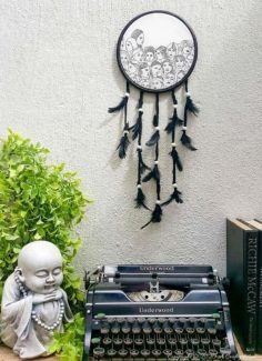 How to Make a Gorgeous Paper Napkin Dream Catcher