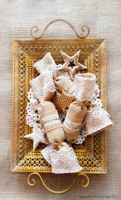 Festive Burlap Christmas Crackers – Easy DIY