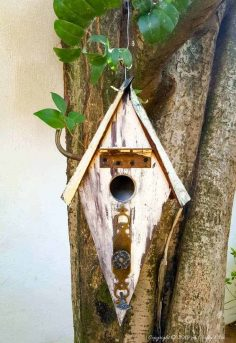 Turn Scraps Into a Unique Recycled Birdhouse