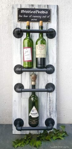 Easy Industrial Chic Wine Rack for the Casual Oenophile